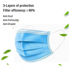 Ear Loop Children's Disposable Face Masks Blue Color With High Filtration Capacity
