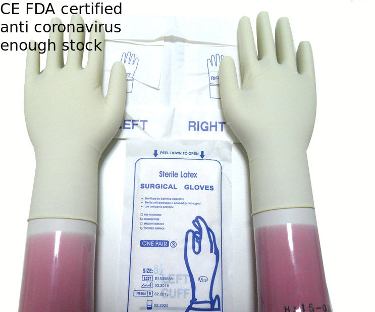 Latex Material Disposable Sterile Gloves Water Resistant CE ISO Approved